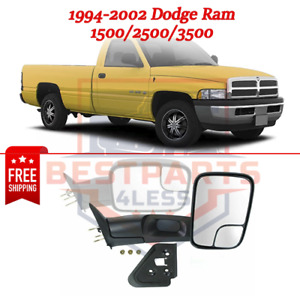Towing Mirror Rh For 94 02 Dodge Ram 1500 2500 3500 Front Right Manual Folding