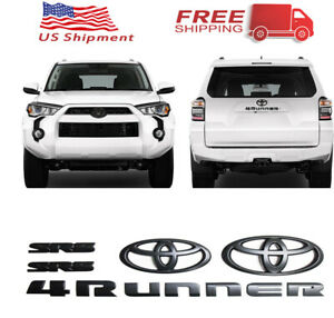 4runner Sr5 Matte Black Out Emblem Replacement Kit For 2011 2019 Toyota
