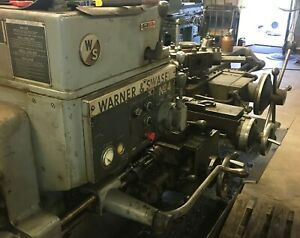 Warner Swasey No 4 Turret Lathe With Extras Square Head With Bar Feeder