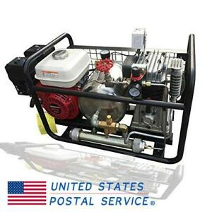 250l min Gas powered Oil Free Air Compressor By Honda Engine Hookah Dive System