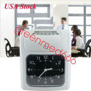 Electronic Employee Analogue Time Recorder Time Clock W card Monthly bi weekly