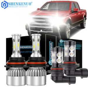 For Ford F 150 1999 2003 Combo 9007 Led Headlight 9145 Fog Light Bulbs Kit
