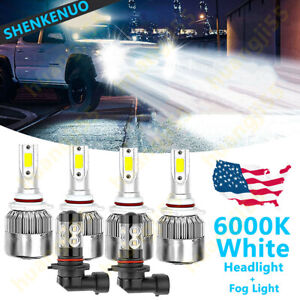 6x Led Headlight Fog Light Bulb C6 For Chevy Silverado 1500 2500 3500 2003 2006