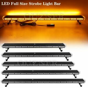29 47 55 Led Emergency Warning Strobe Lightbar Roof Tow Plow Snow Truck Amber