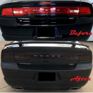 2011 2014 Dodge Charger Tail Light Blackout Kit Smoked Vinyl Cover Overlay 3 Pcs