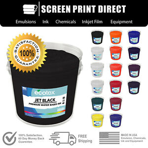 Ecotex Water Based Ink For Screen Printing 17 Color All Sizes