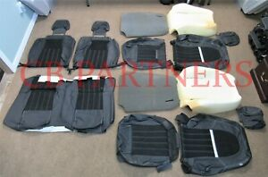 2012 2013 Roush New Mustang Coupe Stage 3 Black Leather Seat Upholstery Set
