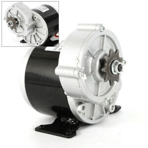 24 V Electric Vehicle Geared Motor 2 Poles Pure Copper Wire 350w 300rpm 18 4 A
