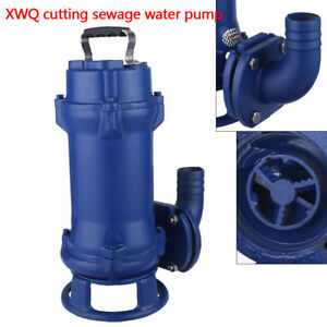1 1kw Sump Pump Industrial Sewage Cutter Grinder Cast Iron Submersible Used