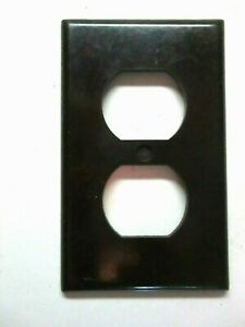 Leviton Usa Outlet Plate Wall Cover Vintage 1 Smooth Brown Bakelite Duplex