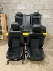 2013 2014 2015 2016 Dodge Charger Front Rear Black Leather Suede