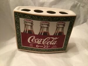 COCA-COLA VINTAGE COLLECTIBLE~4 HOLE TOOTHBRUSH HOLDER