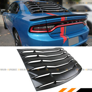 For 2011 2020 Dodge Charger Rear Window Windshield Louver Vent Cover Abs Black