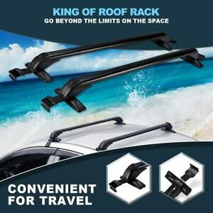 2x Aluminum Universal Roof Rack Cross Bars Cargo Bike Luggage Carrier Rail Clamp