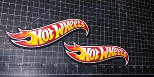 Hot Wheels Glossy Racing Decal Vinyl Sticker Pair Of Decals 8 Inches Long