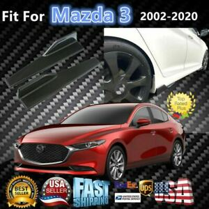 Fits Mazda 3 2008 2020 Carbon Fiber Style Side Skirts Diffuser Spoiler Wings