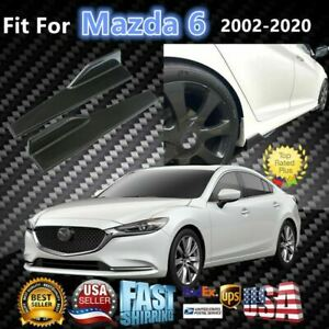 Fits Mazda 6 2008 2020 Carbon Fiber Style Side Skirts Diffuser Spoiler Wings