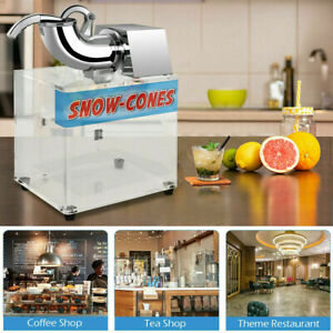 Electric Snow Cone Machine Ice Shaver Maker Shaving Crusher Commercial Grade