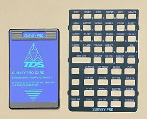 Tds Survey Pro Card For Hp 48gx Calculator Data Collector