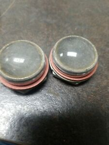 4 X Vintage Frosted Glass Lens Dash Panel Pilot Light Hot Rod Motorcycle