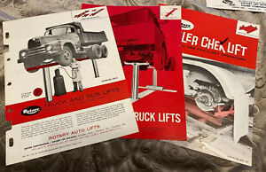 Three Vintage Rotary In Ground Lift Heavy Duty Truck Bus Lift Brochures