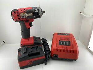 Snap on Ct8810a 3 8 Cordless Impact Wrench W 2 Batteries Charger Good Cond