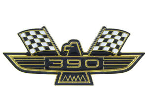 New 390 Ford Eagle Emblem Gold Plating Black and white Flags Galaxie Fairlane