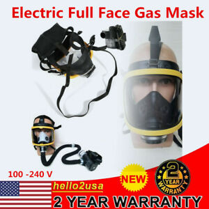 Portable Electric Constant Flow Supplied Air Fed Full Face Gas Mask Respirator