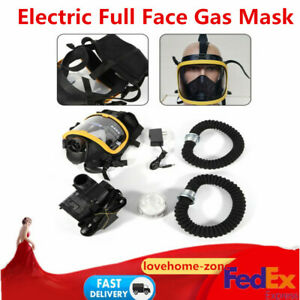 Electric Constant Flow Respirator Air Fed Supplied Industrial Full Face Gas Mask