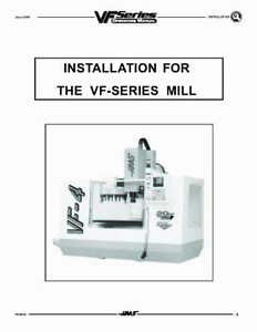 Haas Milling Vf 4 Milling Machine Installation Instructions 500 Pages