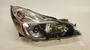 2013 2014 Subaru Legacy Headlight Passenger Side Halogen Lamp Oem Black Bezel