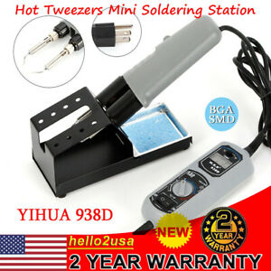 Portable Yihua Hot Tweezers Mini Soldering Station 120w 110v For Bga Smd 938d Us