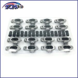 New Small Block Chevy Stainless Steel Full Roller Rockers Arms 1 6 Ratio 7 16