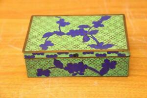 Fine Antique Chinese Cloisonne Enamel Box Fine Cloisonne Box