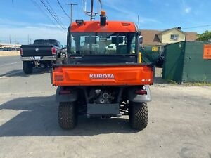 Enclosed Heated Cab Kubota Rtv900 New Winch Brand New Plow 3 Speed Dump