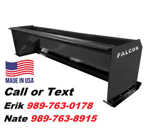 6 Falcon Snow Pusher For Skid Steer Or Tractor