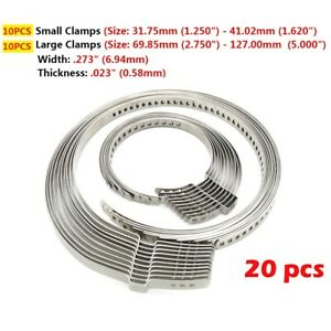 20x Universal Stainless Steel Cv Axle Boot Joint Crimp Clamps Automotive Atv Kit