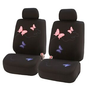 Car Seat Covers Butterfly Front Set Universal Fit For Cars Auto Truck