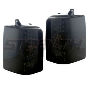 Fits 97 98 Jeep Grand Cherokee Pair Led Tail Lights Black Housing Smoke Lens