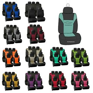 Car Seat Covers Premium 3d Air Mesh Full Set Universal Fit W Air Freshener