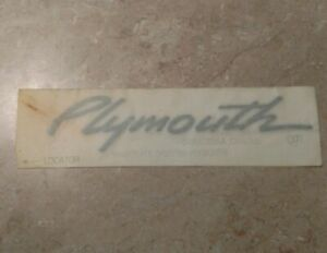 Plymouth Breeze Name Plate p n 04805368aa New Old Stock