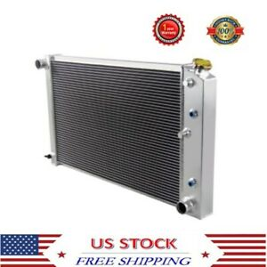4 Row Aluminum Radiator For 69 88 Chevy Camaro Monte Carlo Impala Cutlass V8