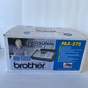 New Open Box Brother Fax 575 Personal Plain Paper Fax Phone Copier