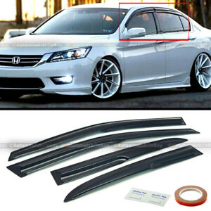 Fit 13 17 Honda Accord Jdm Wavy Mugen Style 4 Pcs Tinted Window Visor Guard Vent