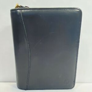 Franklin Covey Classic Planner 6 Ring Zipper Binder Full Grain Nappa Leather