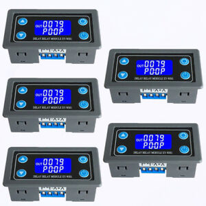 5pc Time Delay Relay Module Lcd Display 6 30v Control Timer Switch Trigger Cycle