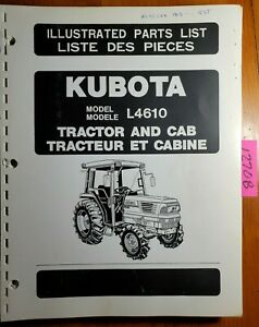Kubota L4610 Tractor Cab Illustrated Parts List Manual 97898 22240