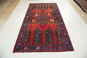 8 36x4 52ft Excellent Hand Knotted Tribal Vintage Area Rug Faded Wool Carpet 4x8