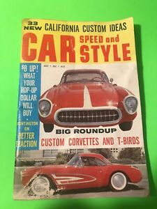 Car Speed And Style Magazine From July 1960 Rare Vintage