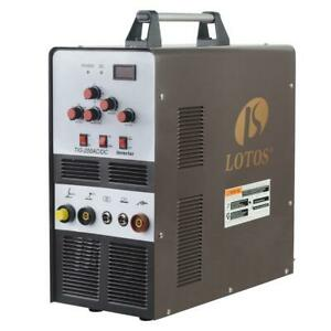 Lotos 200 Amp Tig Stick Square Wave Inverter Welder With Foot Pedal For Dual